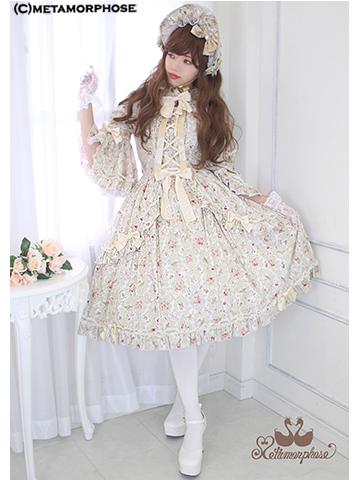 No.613 Antique Rose プリンセスワンピースコーデ