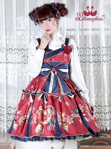 No.640 乙女の白昼夢タックジャンパースカート コーデ