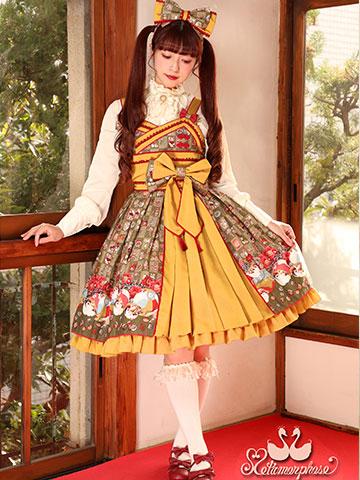 No.641 すずめのおはじき遊びプリーツジャンパースカート