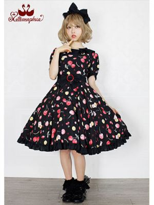 No.681 floating heart cherry ワンピースコーデ