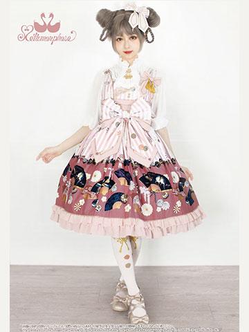 No.680 うたかたの華かぐら フリルジャンパースカート コーデ